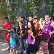 Linwood students show off their harvest!