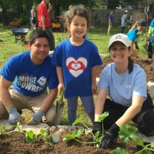 Planting gardens is family fun!